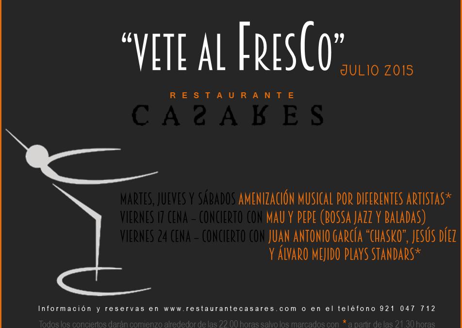 Veladas musicales Vete al Fresco 2015