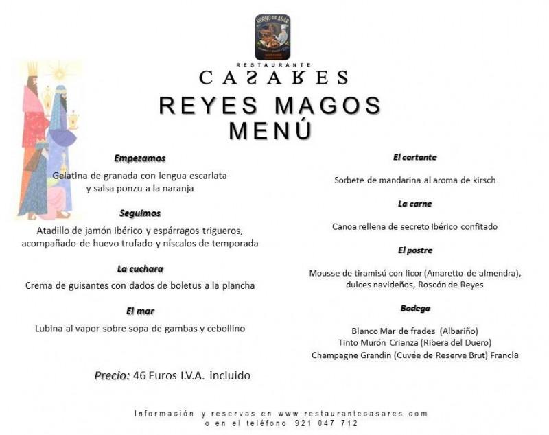 menu reyes 2016 redes sociales