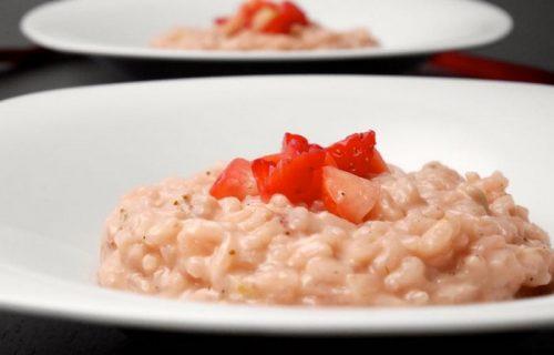 Risotto-aux-fraises-et-au-Champagne